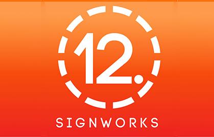 【사인 산업】 12 포인트 SignWorks. 미국